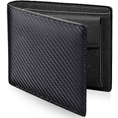 b09ec197c564 Amazon.co.jp: PEYNE 二つ折り カーボン 本革 財布 メンズ: シューズ ...