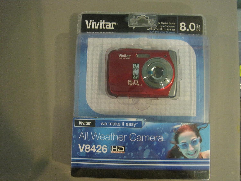 Vivitar All Weatherデジタルカメラv8426hdレッド   B005F55LD6