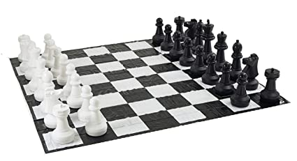 Superbe Giant Chess Set With Giant Mat