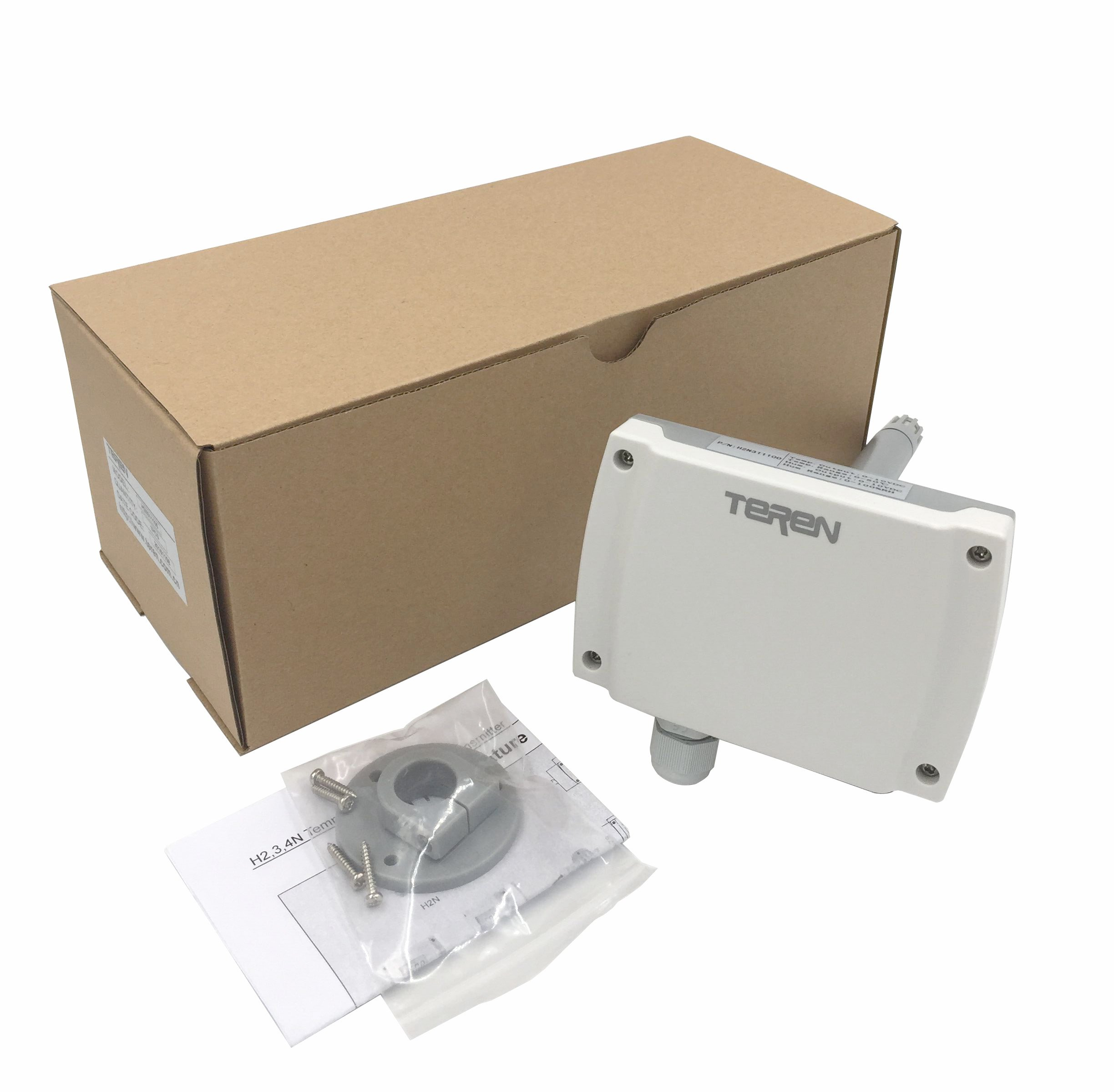 TEREN Duct Mount Temperature & Humidity Transmitter, H2N322100, 3% Accuracy, 4-20mA Output by TEREN (Image #3)