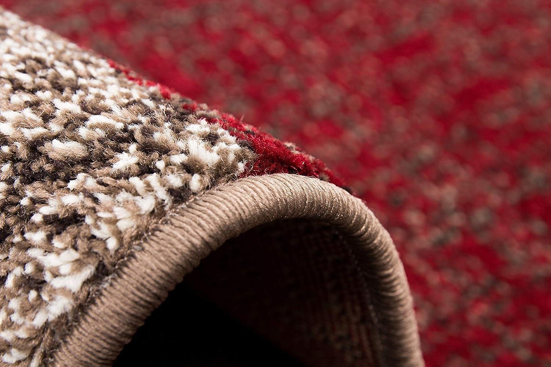 Lalee  347167692 347167692 347167692  Moderner Designer Teppich   Trendig   Patchwork Art   Braun Rot   Grösse   80 x 150 cm 0c55f3