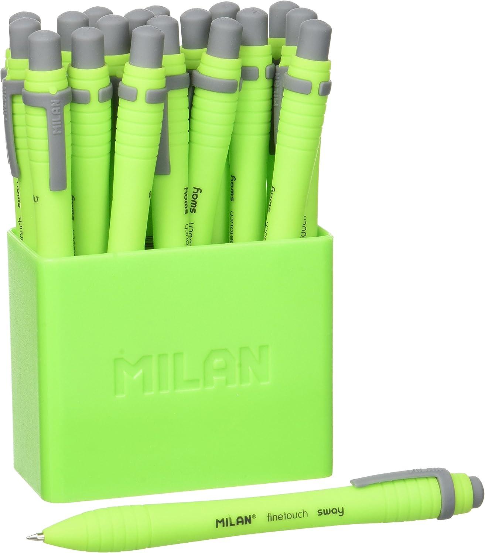 Bote con 19 bol/ígrafos Milan Sway Ballpen color verde