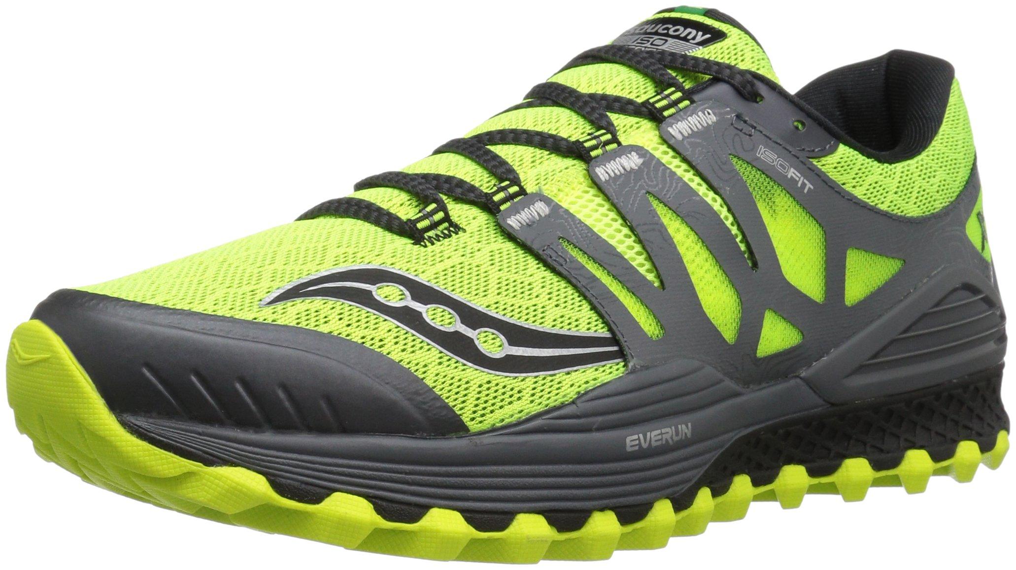 Saucony Men's Xodus Iso Trail Runner, Cotton/Grey, 7.5 M US