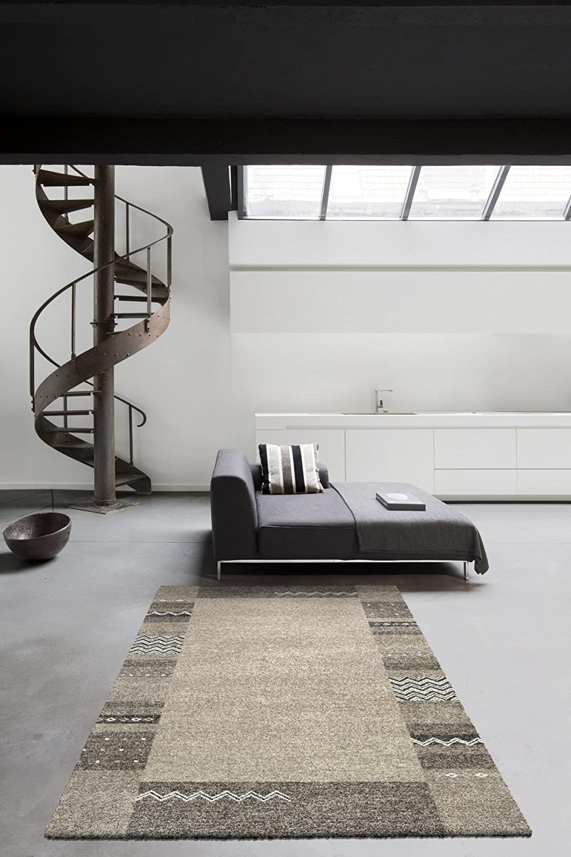 Moderner Designer Teppich Berber aus Hochwertiger Synthetik aus Belgien (120 x 170 cm, Berber 02300706248 Bodüre Grau Weiss Silber) B071ZQ31K6 Teppiche