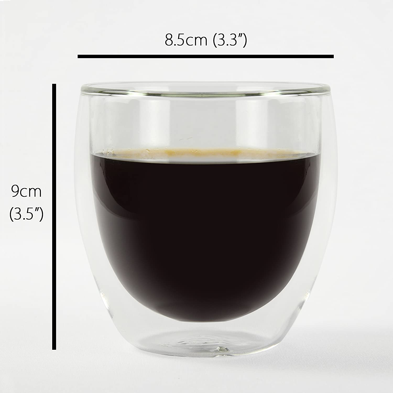 Koffi Kup  Double Walled Glasses 250Ml (88Oz)  Borosilicate