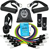 TRIBE PREMIUM Resistance Bands Set for Exercise, Workout Bands for Men with Fitness Tension Bands, Handles, Door Anchor, Ankl