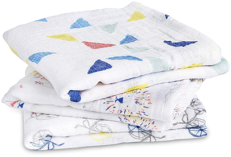 3 pack 100/% cotton muslin aden colour pop anais musy squares 70cm X 70cm