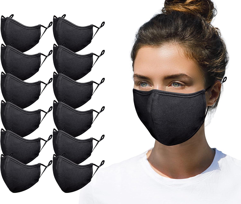 Fashionable Face Durable Breathable Lightweight Face Mask Bandanas Batetel 6 Pcs Unisex Face Cover