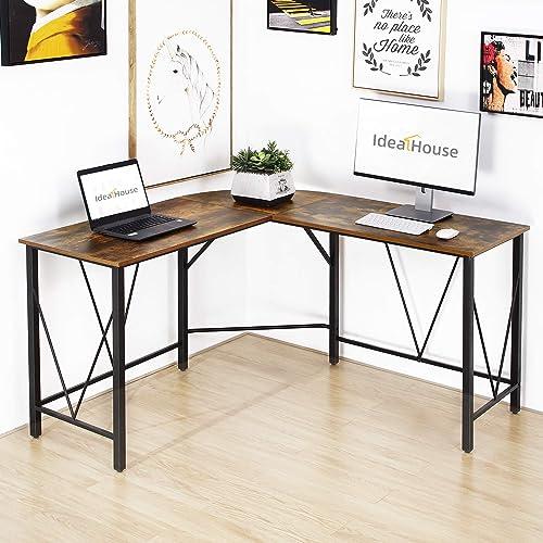 IDEALHOUSE L Shaped Computer Desk