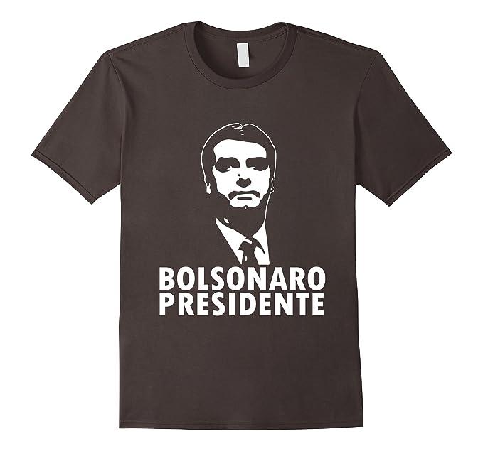 Mens T Shirt Bolsonaro  Para Presidencia Do Brasil Xl Asphalt