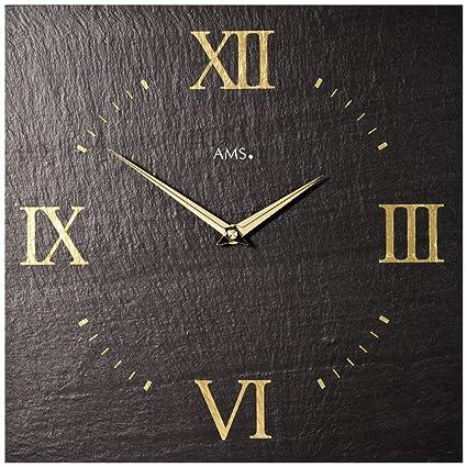 Quartz Reloj De Pared AMS 9517 en look Efecto Pizarra ...