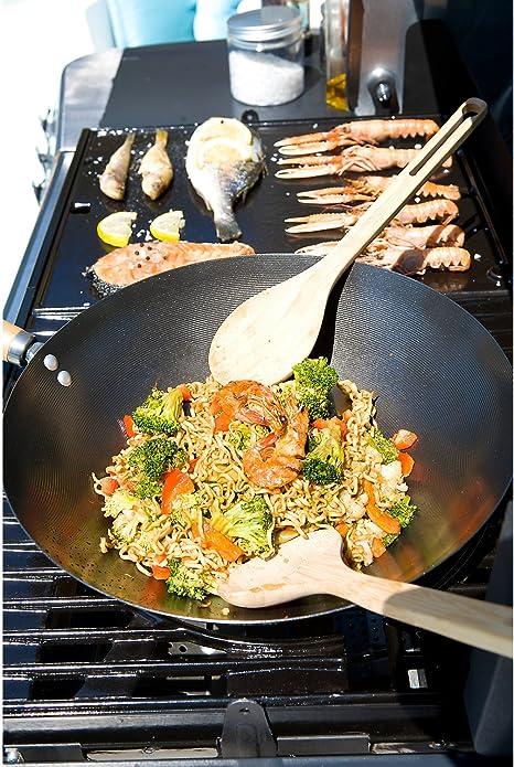 Campingaz Wok Modulo Culinario, Acero de Carbón, Wok de Base ...