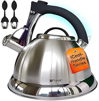 Pykal Whistling Tea kettle with iCool - Handle