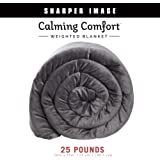 "Calming Comfort Weighted by by Sharper Image- A Heavy Blanket| 50"" x 75"", Grey 25- Pound"