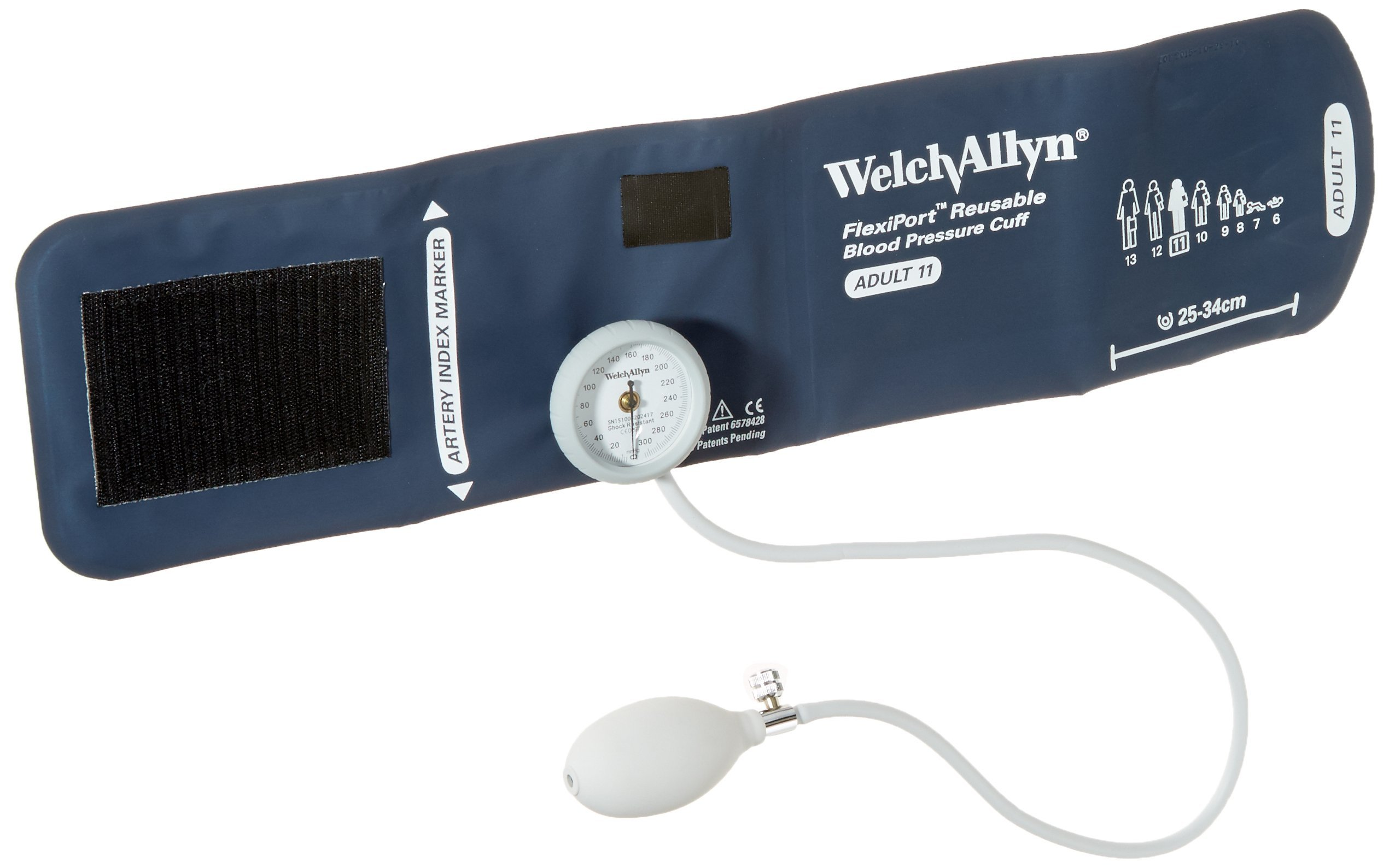 Welch Allyn DS44-11 Gauge with Durable One Piece Cuff, Adult