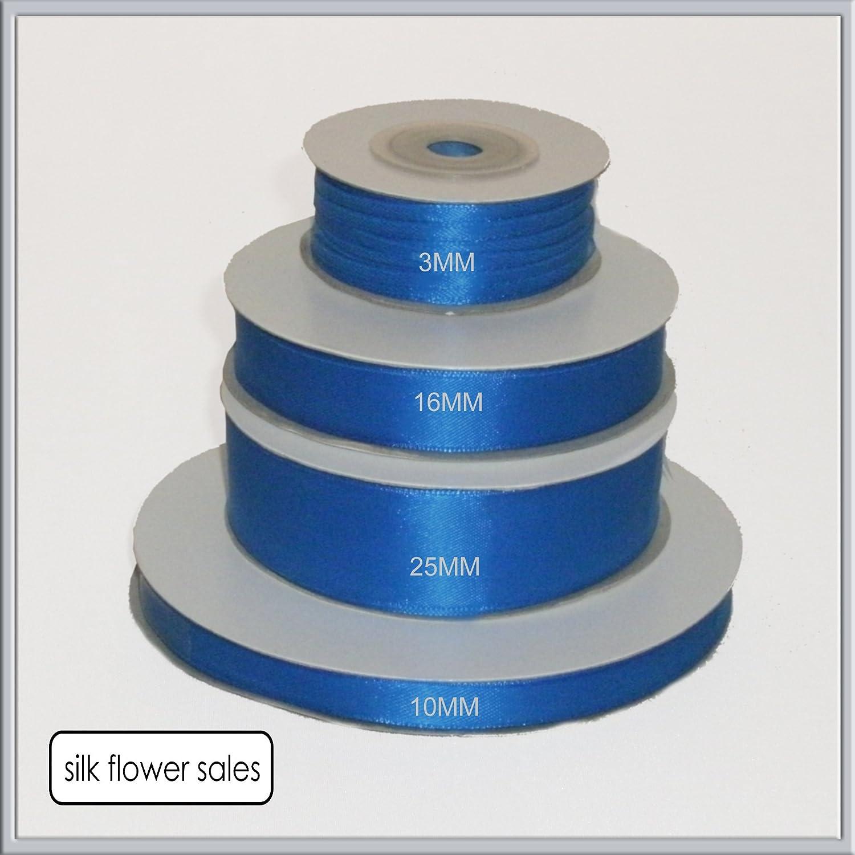 3 mm x 50 m blu 1 rotolo di Royal Blue-Nastro di raso Double face con 3 mm 16 mm e 25 mm di larghezza 10 mm