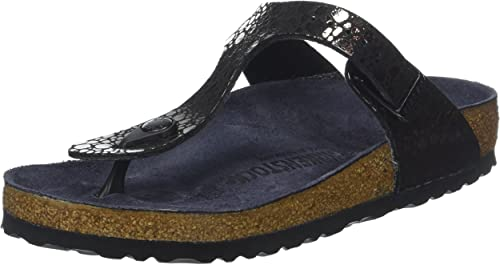 Birkenstock Gizeh BF Metallic Stones Black Womens Sandals