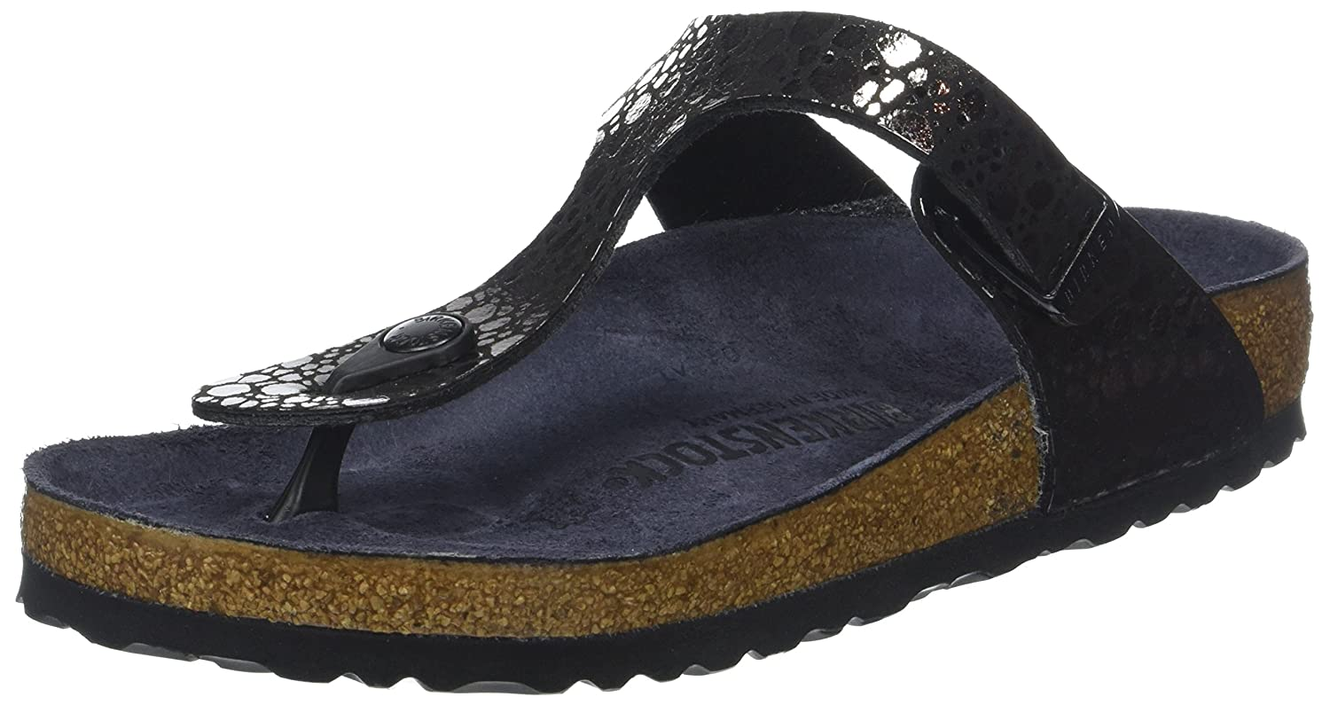 Birkenstock Women's Gizeh Metallic Sandals B0756LF63Y 37.0 EU|Metallic Stones Black