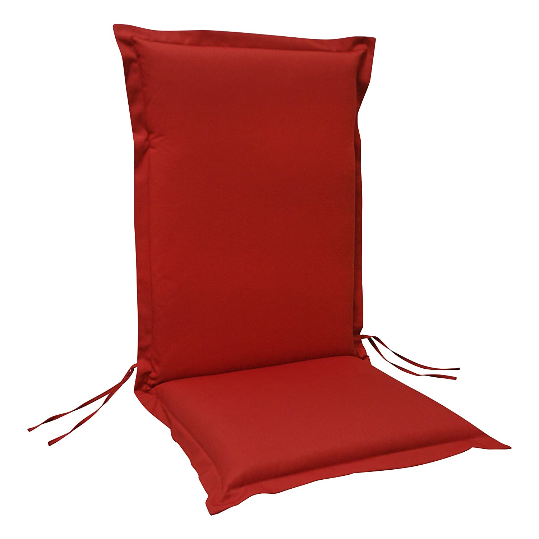 6 x indoba - Sitzauflage Hochlehner Serie Premium - extra dick - Rot