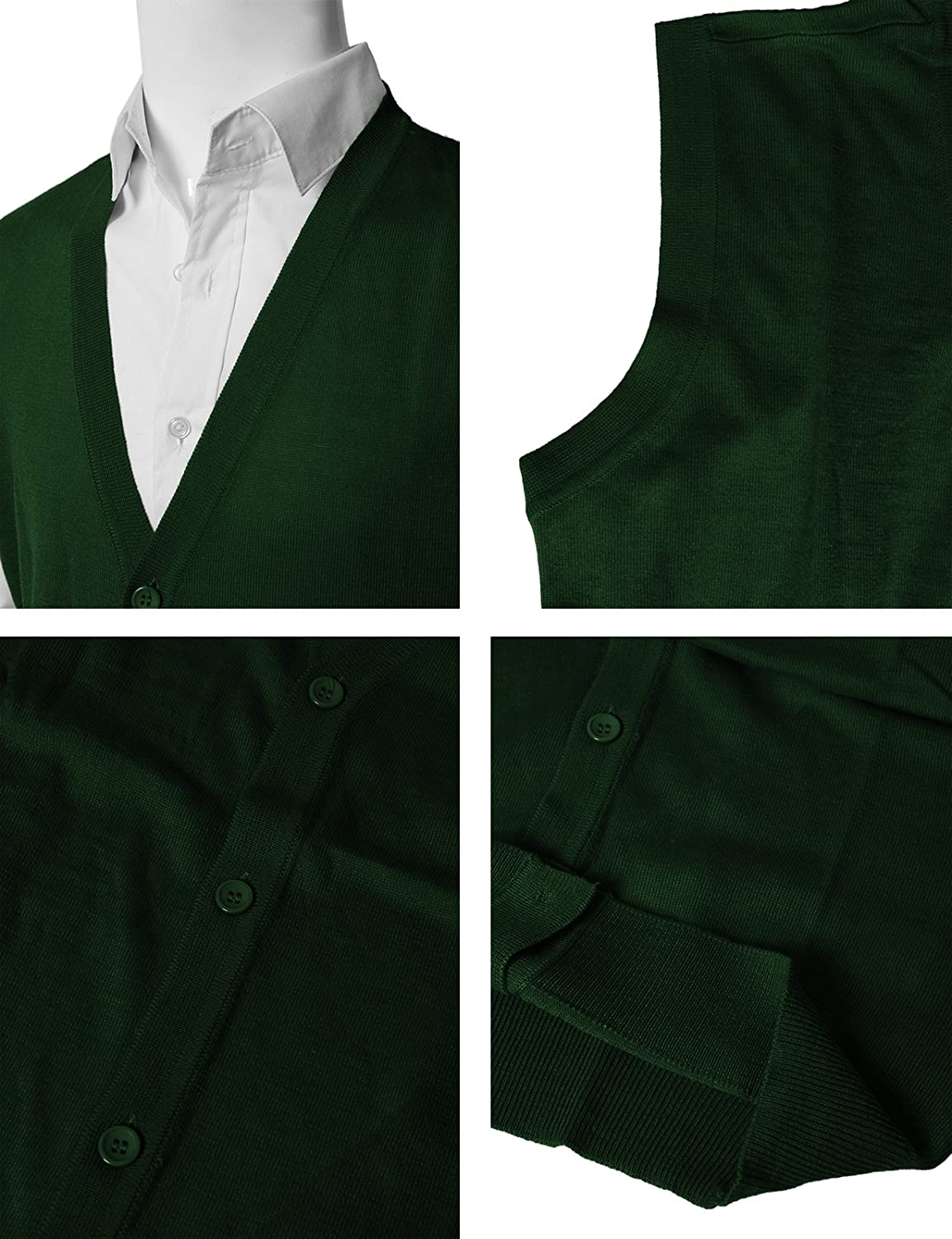 H2H Mens Casual Slim Fit Sweaters Vest Knitted Lightweight Thermal Button-Down #CMOV038