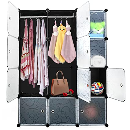 DIY Cube Organizer, Carttiya Modular Shelving Storage Organizer, Closet  Wardrobe With Magnetic Doors,