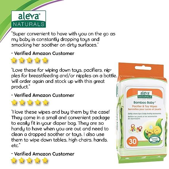 Aleva Naturals bambú bebé chupete de juguete y toallitas: Amazon.es ...