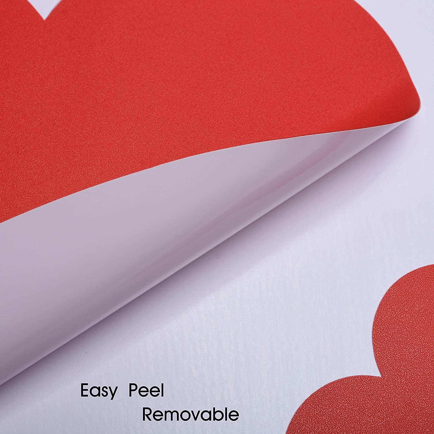 32 Pcs MerryJoyParty Valentines Day Heart Decorations Removable Heart Decals for Floor Wall Windows 3-12