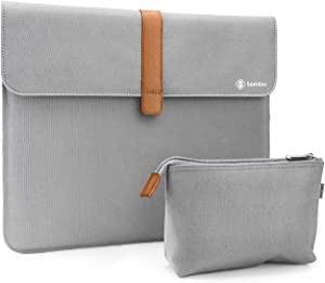 tomtoc 13.3 Inch Slim Carrying Case for 13 Inch Old MacBook Air, Old MacBook Pro Retina 2012-2015, Surface Laptop 3/2/1, Laptop Canvas Sleeve with Accessory Pouch