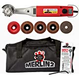 King Arthur's Tools Universal Carving Set, MERLIN2 Handheld Variable Speed Mini Angle Grinder Power Tool with 6 Accessories –
