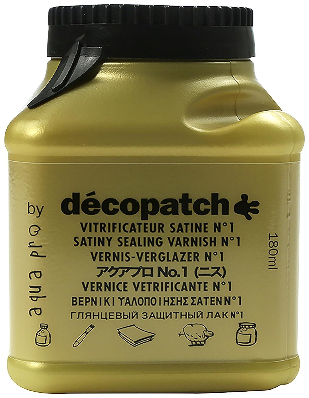 Decopatch VA180BO 180 ml Aqua Pro Satin Professional Varnish by Decopatch