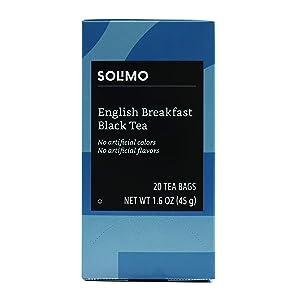 Amazon Brand - Solimo English Breakfast Tea Bags, 20 Count