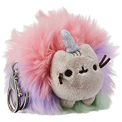 "GUND Pusheen Rainbow Unicorn Cat Plush Pom Deluxe Keychain, Multicolor, 4"": Toys & Games"