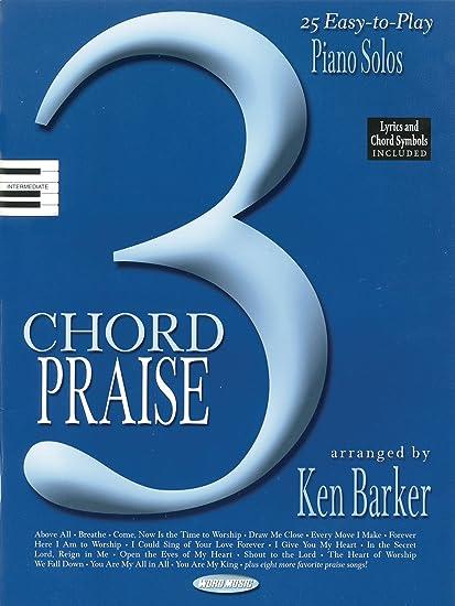 Amazon Hal Leonard 3 Chord Praise Sacred Folio For Solo Piano