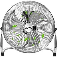 OZAVO Standventilator, Windmaschine ⌀39/50/56 cm mit 3 Laufgeschwindigkeiten, Bodenventilator Power, Tischventilator Metall, Luftkühler, verstellbare Neigungswinkel, 45/80/100 W (⌀50cm)