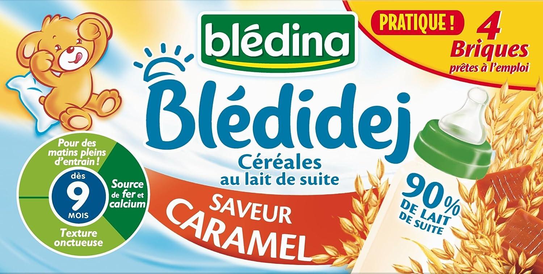 Blédina Blédidej Céréales au Lait de suite Saveur Caramel dès 9 mois 4 x 250 ml - Pack de 3 BLEDINA 3041090661181