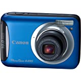 Canon PowerShot A495 10.0 MP Digital Camera with 3.3x Optical Zoom and 2.5-Inch LCD (Blue)