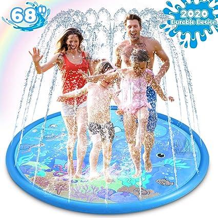 "Splash Pad Sprinkler 68/"" Inflatable Water Toy Play Mat Wading Swimming Pool"
