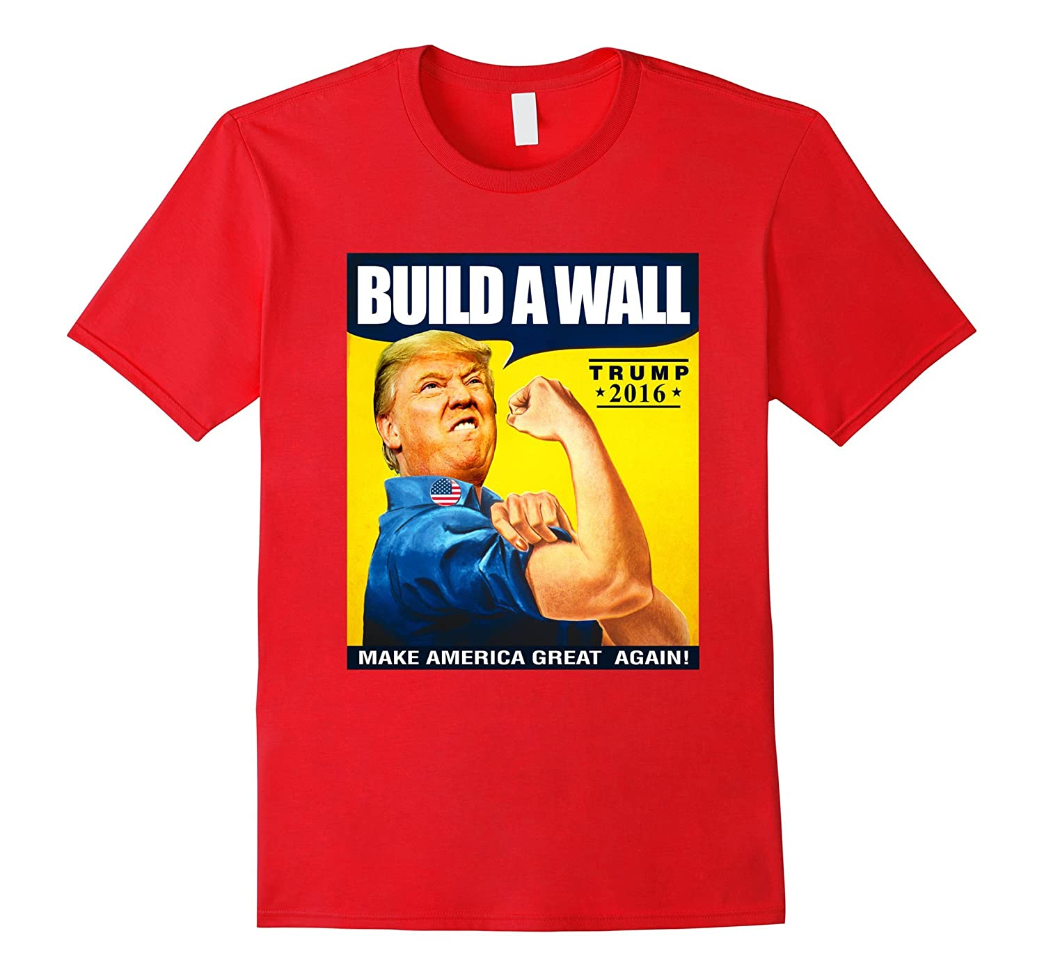 Build A Wall Trump 2016 Shirt-TD