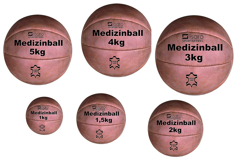 Lisaro - Balón Medicinal de Piel auténtica: Amazon.es: Deportes y ...
