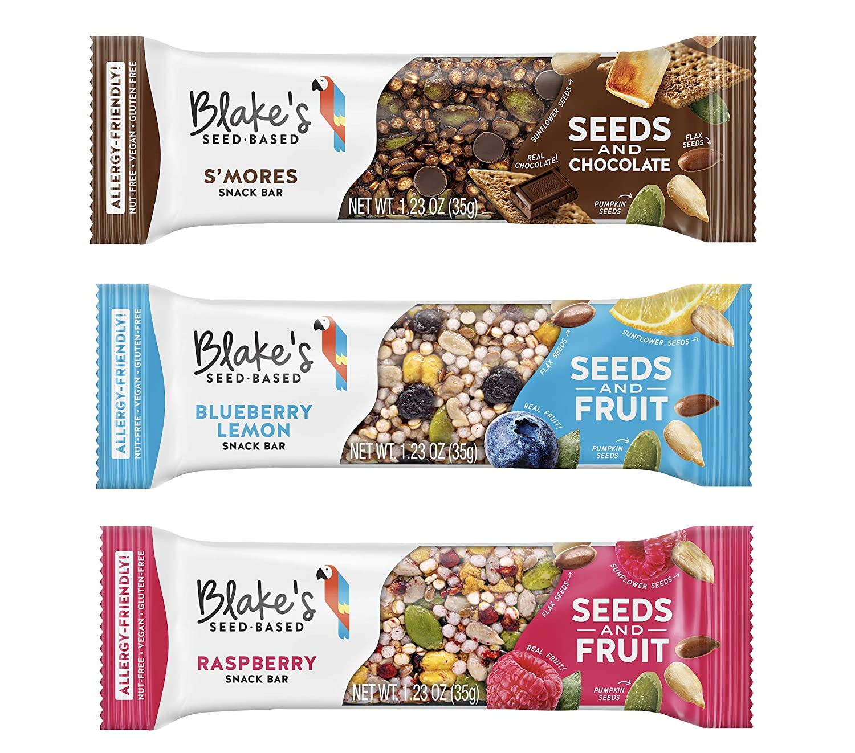 Blake's Seed Based Variety Pack Seed and Fruit Bars, Nut Free, Gluten Free, Vegan, 1.23oz (9 Bars)