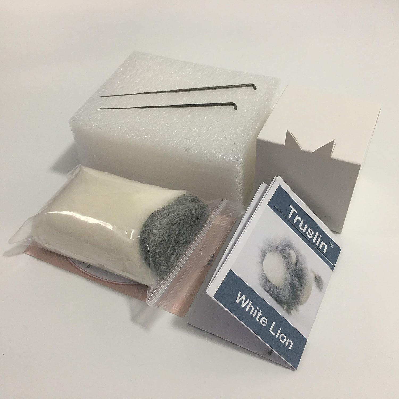 DIY Needle Felting Kit with Gift Box DIY Toys Faceless Animal Truslin Lion