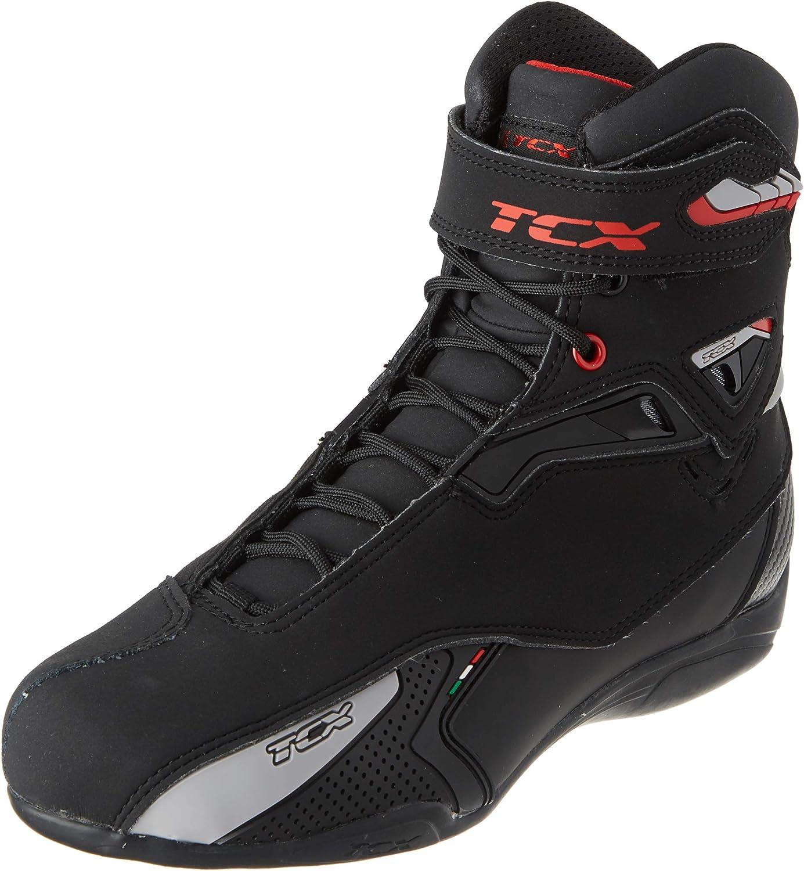 TCX Bottes moto RUSH WP Noir//Jaune FLUO Noir//Jaune FLUO 36