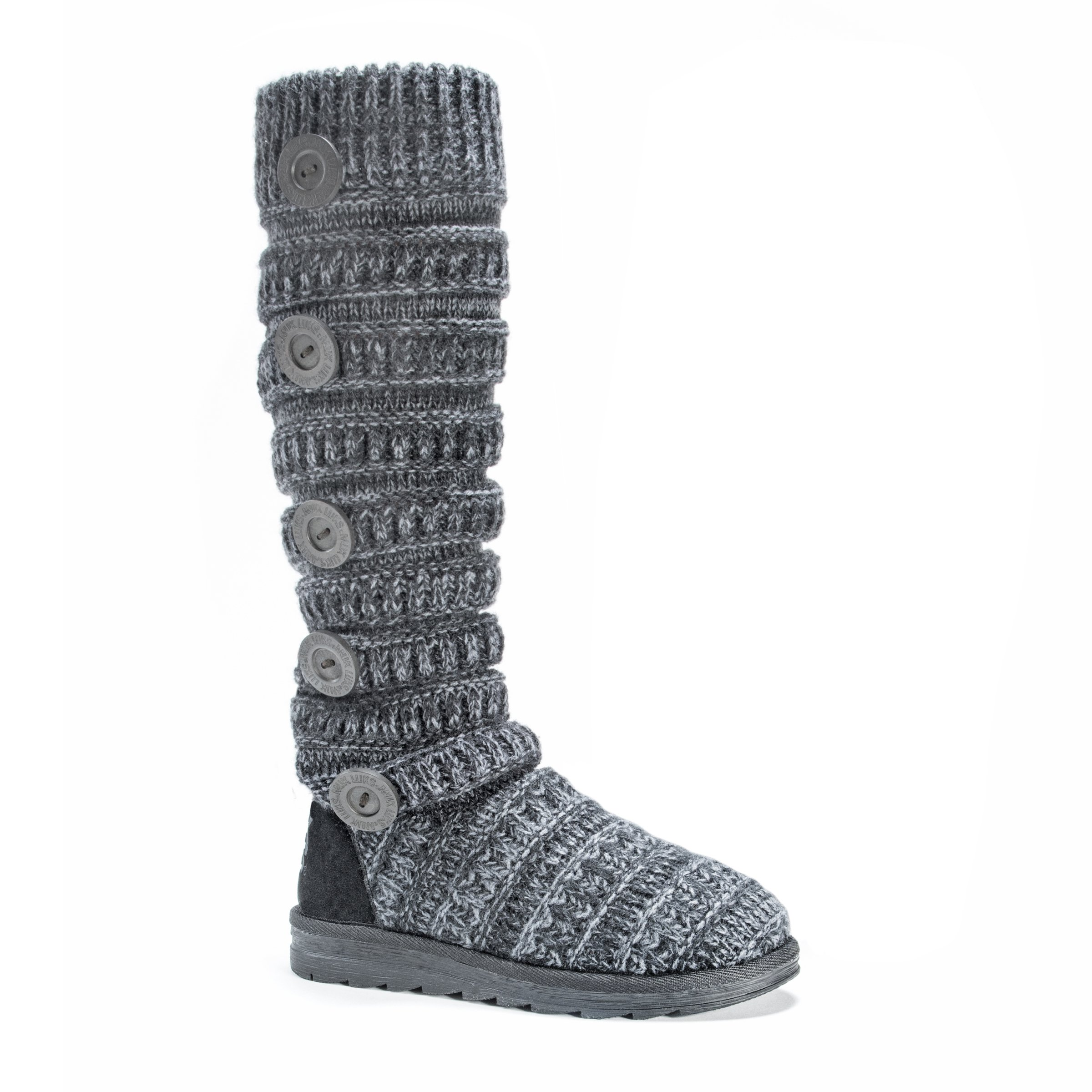 MUK LUKS Women's Miranda Boot Winter, Steel Grey, 7 M US