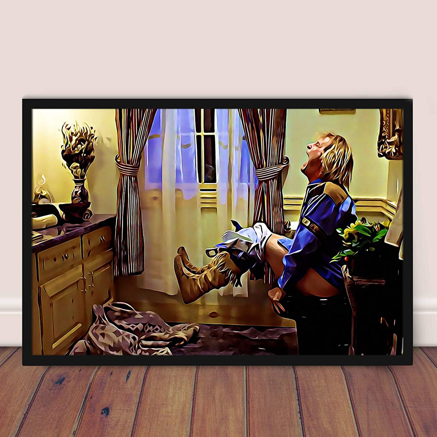 Amazon Com Dumb And Dumber Bathroom Poster Funny Harry Dunne Toilet Home Decor Unframed Poster Posters Prints