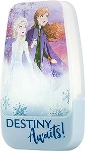 Disney Frozen Anna and Elsa Plug-in LED Night Light, Dusk-to-Dawn Sensor, Girl's Room Décor, UL-Listed Ideal for Bedroom, Nursery, Bathroom, 45670