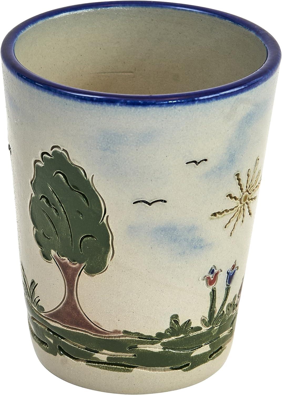 0,2 ltr., Heile Welt Original westerw/älder Kannenb/äckerland salzglasierte Steinzeug Keramik Becher 0,2 Ltr.