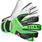 T1TAN Rebel Torwarthandschuhe mit oder ohne Fingerschutz/Tormannhandschuhe mit 4mm Grip/Fußballhandschuhe mit Innennaht/mehrere Farben/verschiedene Größen