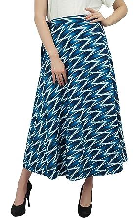 Phagun Vestido de Indio Reversible Ikat Impreso algodón Azul ...
