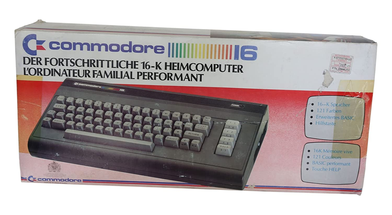 Commodore 16 / C16 Heimcomputer - Computer Klassiker: Amazon.de ...