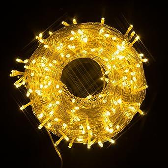 Ulinek 50m Licht Lichterkette Mit 250 LED Lämpchen, Hohe Qualität, 8  Lichteffekte,